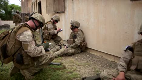 Us-Marines-On-Patrol-Through-A-Simulated-Arab-Village-And-Are-Attacked-1