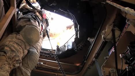 Pov-Shots-As-A-Us-Transport-Convoy-Moves-Through-Iraq-During-The-War-1