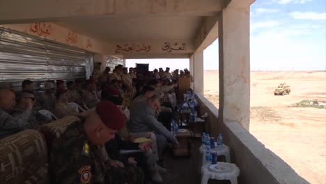Afghan-Officials-Review-An-Army-Exercise-From-Viewing-Stands