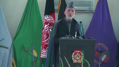 President-Hamid-Karzai-Of-Afghanistan-Speaks-To-A-Large-Audience