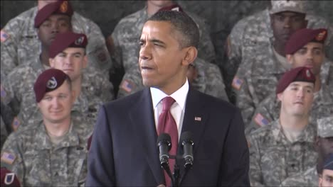 President-Barack-Obama-Welcomes-Home-The-Troops-From-Iraq-At-A-Speaking-Engagement-In-Ft-Bragg-North-Carolina