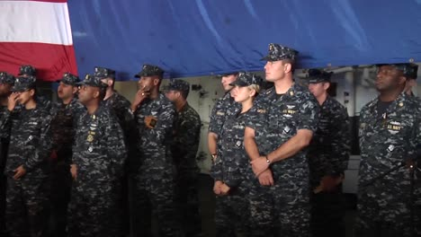 Leon-Panetta-Head-Of-The-Cia-Speaks-To-And-Greets-The-Troops
