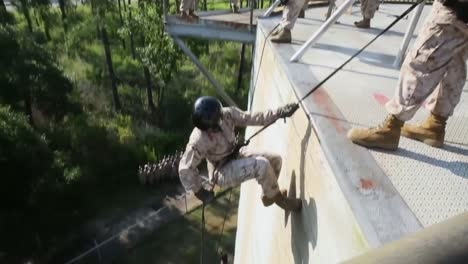 Marines-In-Basic-Training-Compete-In-Various-Workout-Drills-Including-Rappelling-1