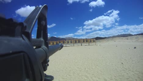 Pov-Footage-Of-A-Gun-Being-Fired-At-A-Target-Range