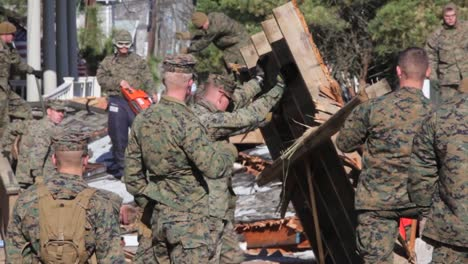 Marines-And-Army-Troops-Search-Through-Ruined-Homes-Following-Hurricane-Sandy