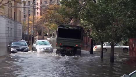 The-City-Of-Hoboken-New-Jersey-Finds-Itself-Underwater-During-Hurricane-Sandy