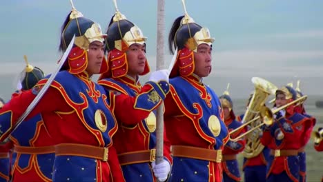 Mongolian-Army-Troops-March-In-Formation-During-An-Official-Ceremony-1