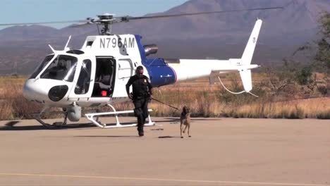 Us-Border-Patrol-Agents-Use-Dogs-To-Sniff-Out-Planes-Crossing-The-Border-Between-The-Us-And-Mexico