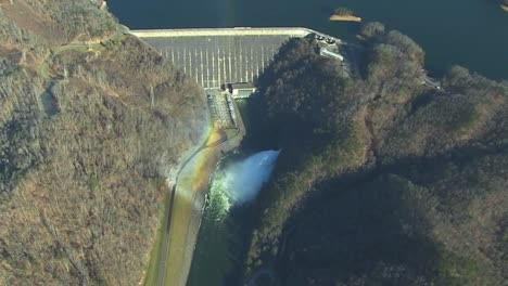 Aerial-Over-Fontana-Dam-Operated-By-The-Tennessee-Valley-Authority