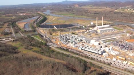 Aerial-Over-Hydroelectric-Power-Plant-Operated-By-The-Tennessee-Valley-Authority