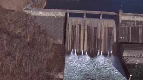 Aerial-Over-The-Norris-Dam-Hydroelectric-Generation-In-Tennessee