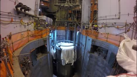 The-Core-Reactor-Of-A-Nuclear-Power-Plant-Is-Put-Into-Place-And-Fuel-Rod-Cells-Are-Added-1