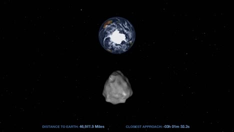 Nasa-Animation-Of-An-Asteroid-Moving-Through-Space-And-Approaching-Earth
