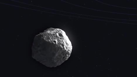 Animación-De-La-Nasa-De-Un-Cometa-Moviéndose-A-Través-Del-Espacio