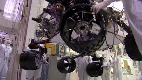 Nasa-Scientists-Work-In-The-Lab-To-Build-And-Test-The-Mars-Rover