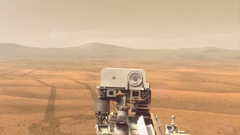 Nasa-Animation-Of-The-Curiosity-Rover-On-The-Surface-Of-Mars
