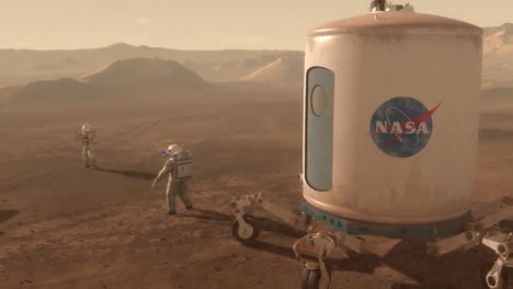 Nasa-Animation-Shows-A-Futuristic-Representation-Of-Astronauts-On-The-Surface-Of-Mars