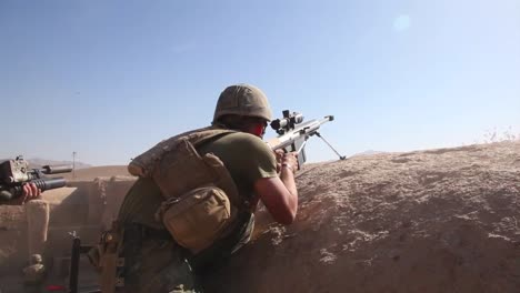 American-Soldiers-Actively-Engage-In-A-Firefight-With-The-Taliban-In-Afghanistan