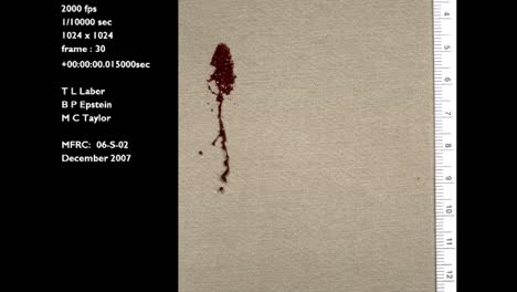 A-Forensics-Crime-Lab-Studies-A-Slow-Motion-Blood-Drop-Falling-Onto-A-Cotton-Surface