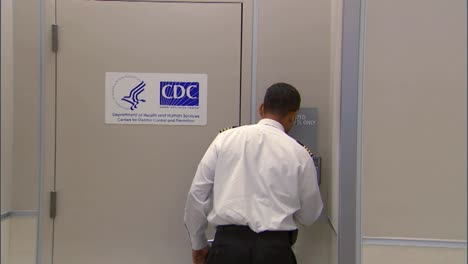 Cdc-Officials-Arrive-At-An-Airport-Isolation-Faciity-For-The-Control-Of-Contagious-Disease