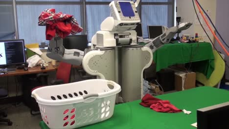 An-Autonomous-Robot-Does-Its-Own-Laundry-In-A-Laboratory-At-The-National-Science-Foundation
