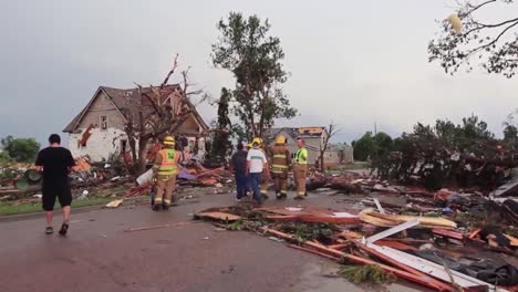 Tv-News-Style-Footage-Of-The-Aftermath-Of-A-Tornado-And-Storm-Damage