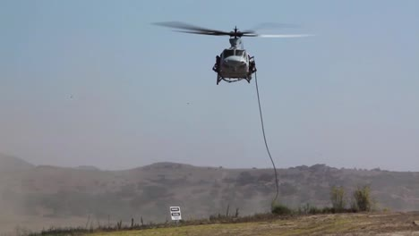 Marines-With-A-Light-Attack-Helicopter-Squadron-Participate-In-A-Landing-And-Evacuation-Procedure