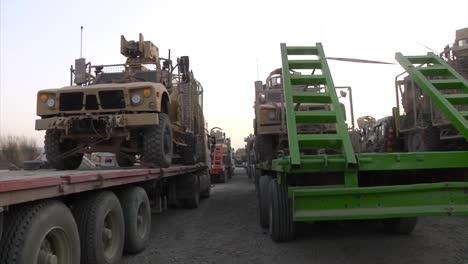 A-Vast-Amount-Of-Gear-And-Equipment-For-The-War-In-Afghanistan-Is-Moved-Across-The-Country-By-Truck