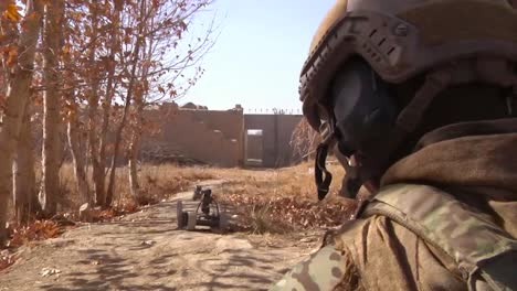 Marines-Go-On-Patrol-In-Kandahar-Province-Afghanistan-And-Uncover-And-Explode-An-Ied-Device-Along-The-Road-3