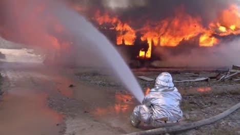 Firefighter-Battles-A-Major-Structural-Blaze