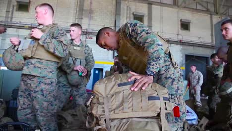 A-Contingent-Of-Military-Personnel-Deploys-On-A-Mission
