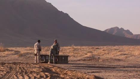 Us-Troops-Destroy-Unused-Munitions-Outside-Of-Bagram-Airfied-Prior-To-Leaving-Afghanistan