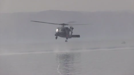 Us-Soldiers-Practice-Rope-Ladder-And-Hoist-Search-And-Rescue-Operations-Over-The-Ocean