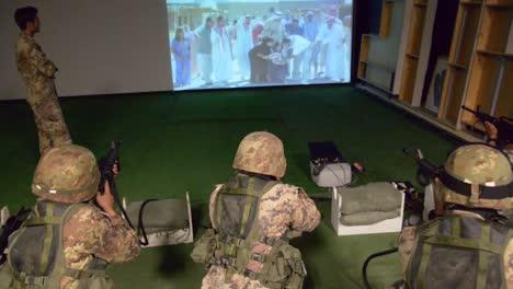 Los-Soldados-Estadounidenses-Ven-Un-Video-De-Una-Revuelta-árabe-Musulmana-Y-Deben-Decidir-Cuándo-Disparar-Sus-Armas