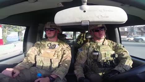 Pov-Shots-Of-Soldiers-Driving-A-Car-In-And-Around-Kabul-Afghanistan-2