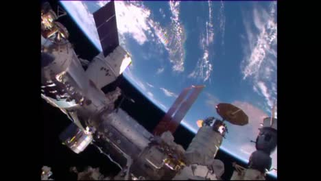 The-International-Space-Station-Floats-High-Above-The-Earth