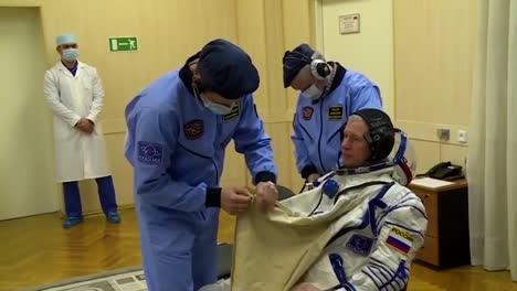 Russian-Cosmonauts-Are-Readied-For-Space-Flight-To-The-International-Space-Station