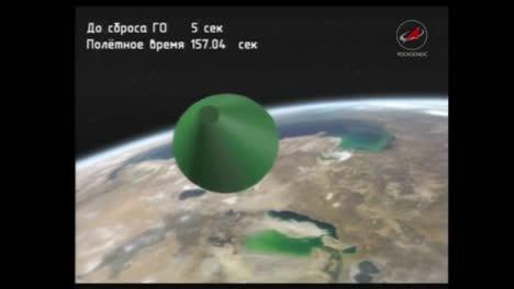 Película-Animada-Describe-Varias-Etapas-De-Un-Cohete-Soyuz-Ruso-En-El-Vuelo-2