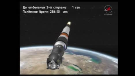 Película-Animada-Describe-Varias-Etapas-De-Un-Cohete-Soyuz-Ruso-En-El-Vuelo-3