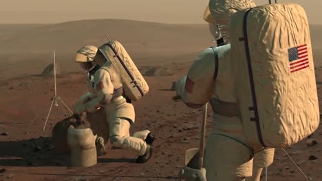 Animated-Sequence-By-Nasa-Imagines-Astronauts-Working-On-The-Surface-Of-Mars