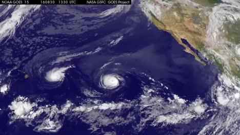 Seguimiento-Por-Satélite-De-Una-Tormenta-Tropical-Sobre-El-Océano-Pacífico