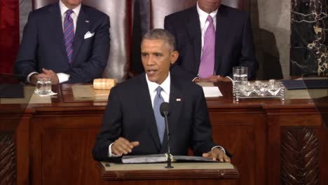 Barack-Obama-Speaks-About-Climate-Change-Before-Congress-At-The-State-Of-The-Union-Address