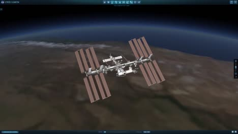 An-Animation-Of-The-International-Space-Station-In-Orbit