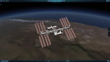 Una-Animación-De-La-Estación-Espacial-Internacional-En-órbita