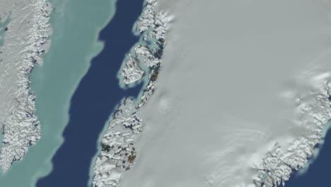 Un-Alejamiento-Del-Hielo-Marino-ártico-De-Greenlands-Al-Mundo-Desde-El-Espacio-Exterior