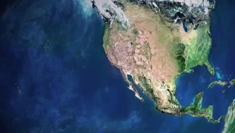Zoom-En-El-Letrero-De-Hollywood-Desde-El-Espacio-Exterior-