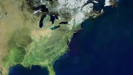 Zoom-En-La-Ciudad-De-Baltimore-Maryland-Desde-El-Espacio-Exterior