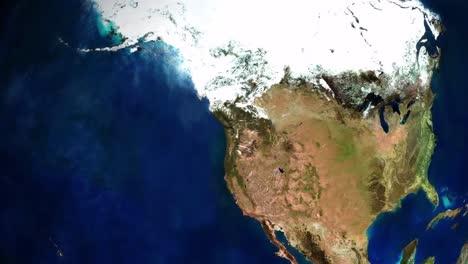 Zoom-En-La-Ciudad-De-Seattle-Washington-Desde-El-Espacio-Exterior-