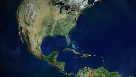 Zoom-En-El-Centro-Epcot-En-Disneyworld-En-Orlando-Florida-Desde-El-Espacio-Exterior