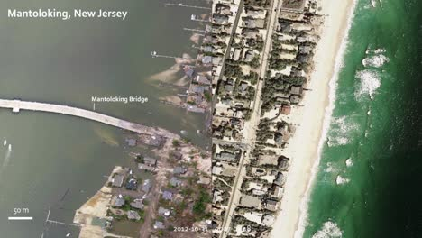 A-Comparative-Photograph-Shows-The-Damage-In-New-Jersey-From-Hurricane-Sandy